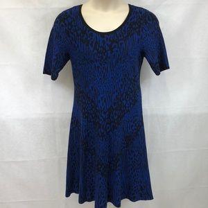 Dana Buchman animal print knit sweater dress